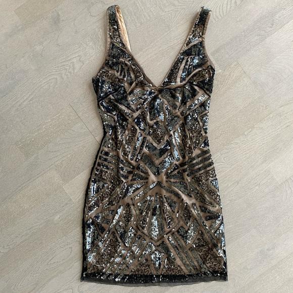 Classy & Sexy Sequin Mini Dress - Size 6